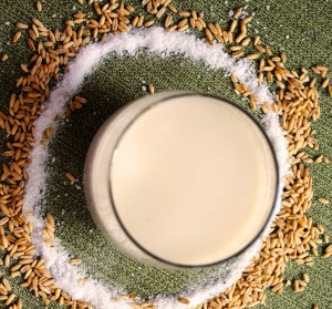 raw oat milk